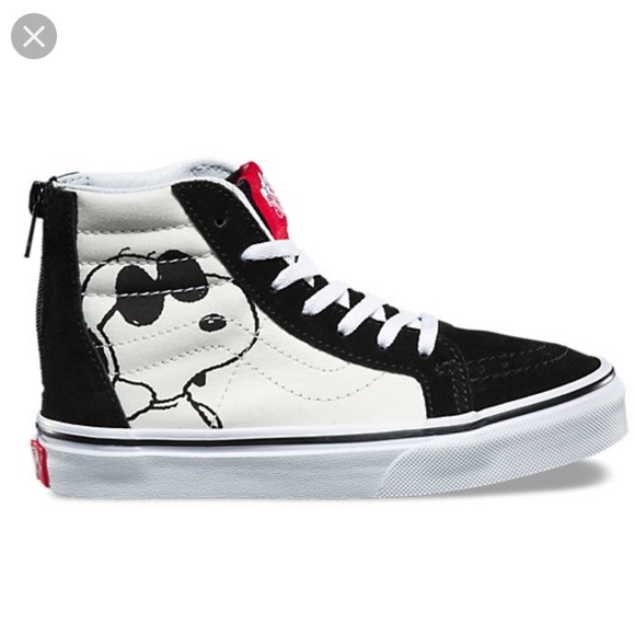 Kids Vans x Peanut Snoopy Sk8 Hightops 6.5